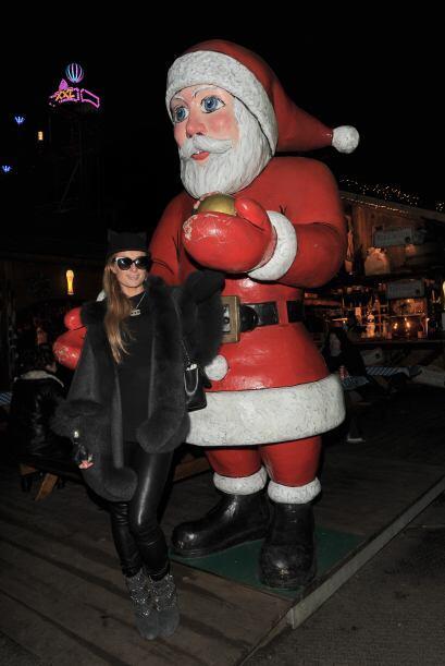 La clásica foto con Santa no podia faltar, lo más seguro es que aprovech...