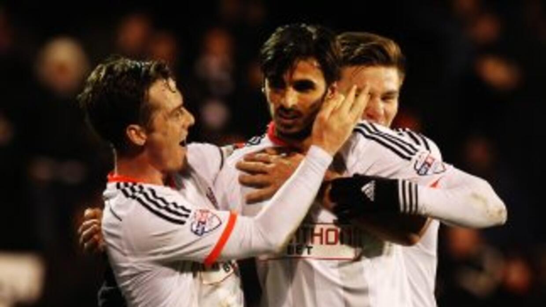 Bryan Ruiz anotó el gol de la victoria para el Fulham.