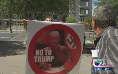Peleas verbales por Trump