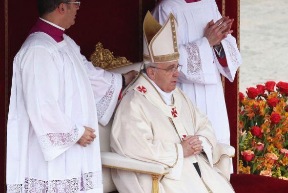 El Santo Padre presidió la histórica celebración.