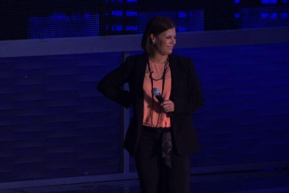 Otra que pudimos ver en los ensayos de Premio Lo Nuestro es Olga Tañon.