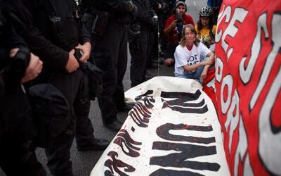 Imágenes de una protesta en Arizona