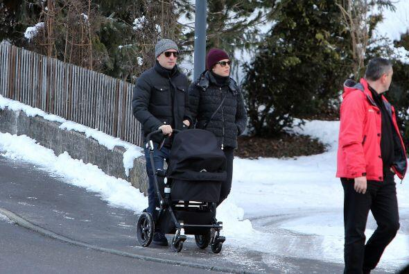 La princesa y su pareja, el actor francés Gad Elmaleh, sacaron a pasear...