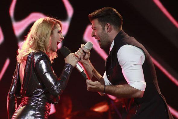 Los dos desbordaron química en el escenario.
