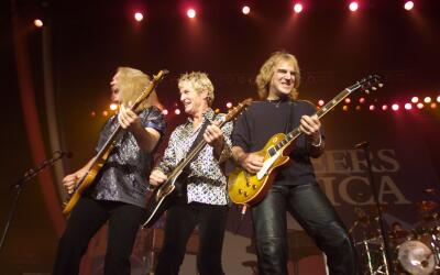 REO Speedwagon performing at the 'Volunteers for America' rock benefit c...