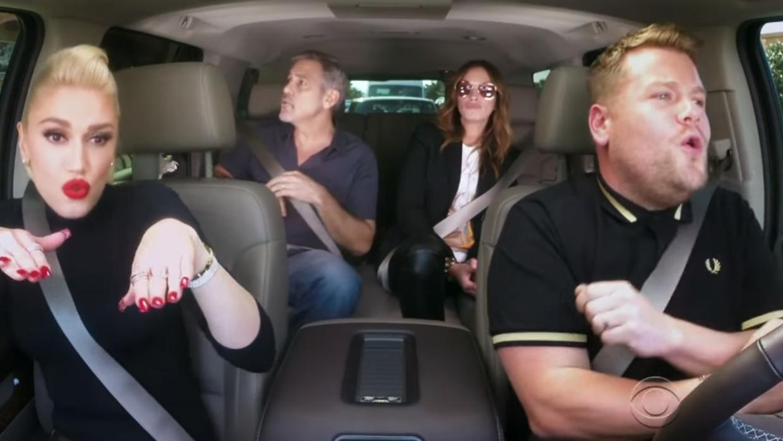 Gwen Stefani, Geroge Clooney, Julia Roberts y James Corden.
