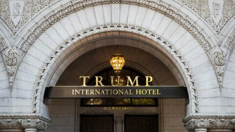 Entrance of the Trump International Hotel in Washington