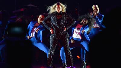 CLEVELAND, OH - NOVEMBER 04: Beyonce performs on stage during a Get Out...