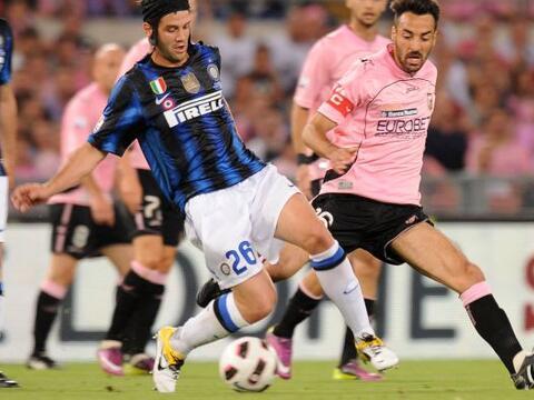 Inter de Milán y Palermo se vieron las caras en la Final de la Co...