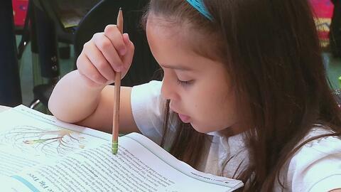 Una niña hispana lucha por mejorar su inglés en la escuela y salir adelante