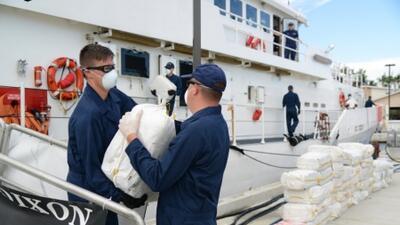 Guardia Costera intercepta droga en el Caribe