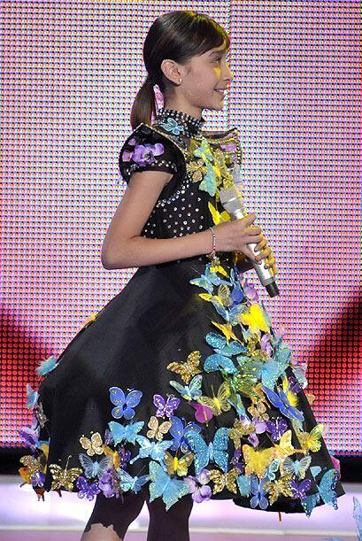 Este maravilloso vestido, bastante primaveral, fue el que  utiliz&oacute...