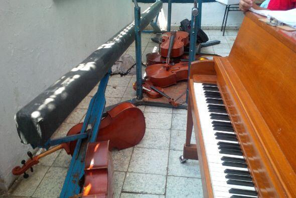 Imagen de lo que parece ser el salón de música Reportero:...