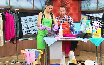 Ana Patricia aprendió a lavar bien la ropa