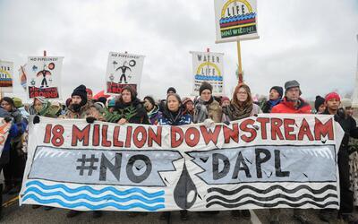 Protestas permanentes contra el oleoducto Dakota Access