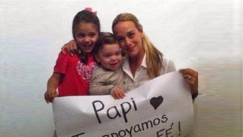La familia de Leopoldo López. Foto tomada de Instagram.