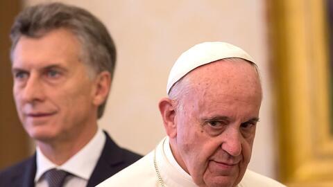El Papa recibe al presidente Macri en el Vaticano, en febrero de 2016