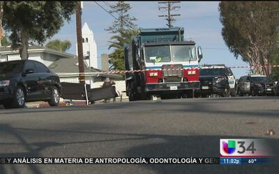 Camión de basura atropella y mata a niño en Newport Beach