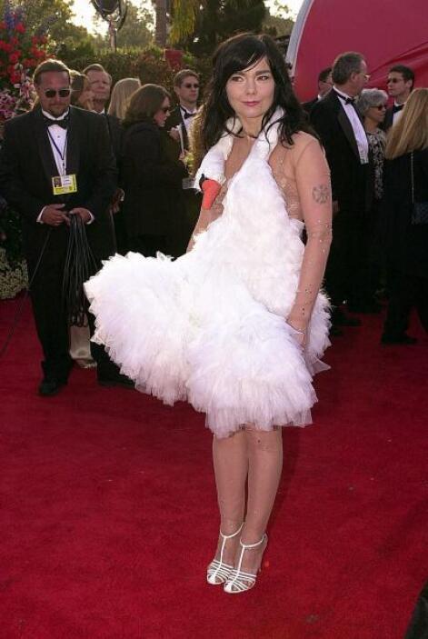 Pobre de los cisnes, quienes quedaron en  ridículo con el vestido de Bjö...