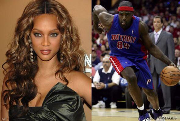 TYRA BANKS Y CHRIS WEBBER: La modelo afroamericana y el basquetbolista s...