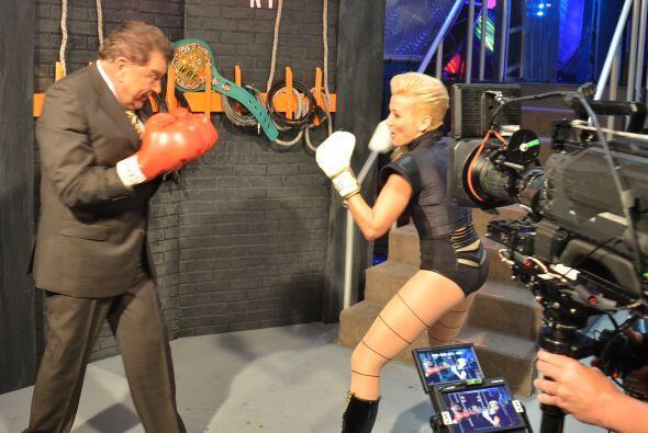 Don Francisco y la cantante Fanny Lu protagonizaron una pelea en Sábado...