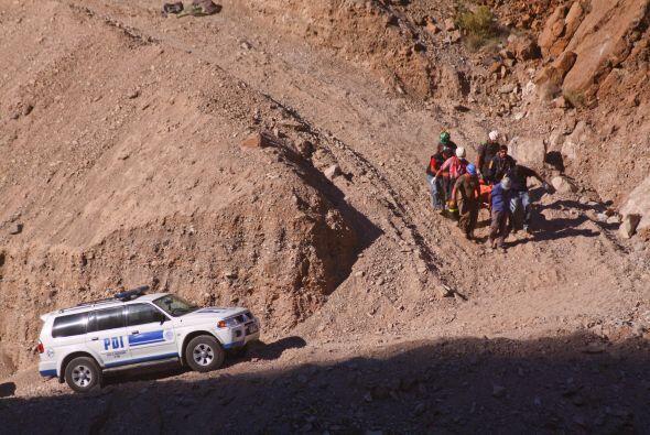 El interior de la mina de cobre Los Reyes, cercana a Copiapó, mis...
