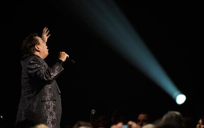 El cantante Juan Gabriel durante los Latin Grammy de 2009 en Las Vegas.