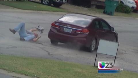Captan en video a ladrón de autos en Dallas