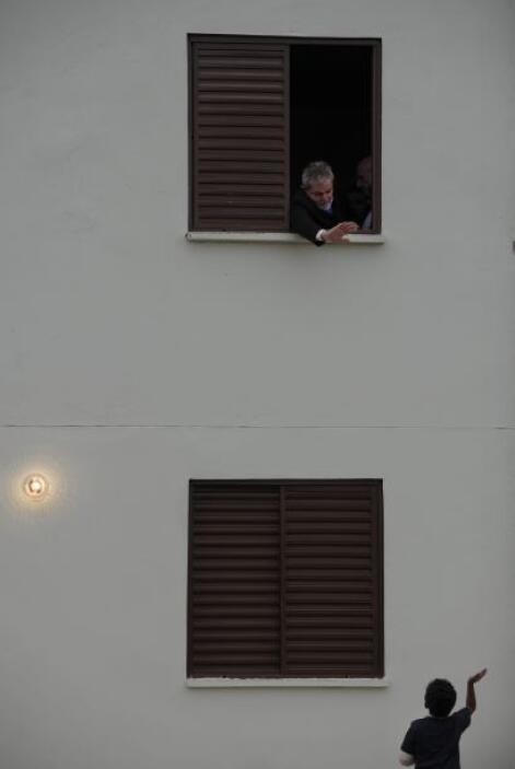El mandatario brasileño entró a uno de los departamentos que recién entr...