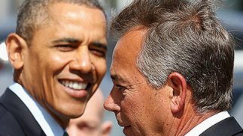 El presidente Barack Obama junto al presidente del Congreso, el republic...