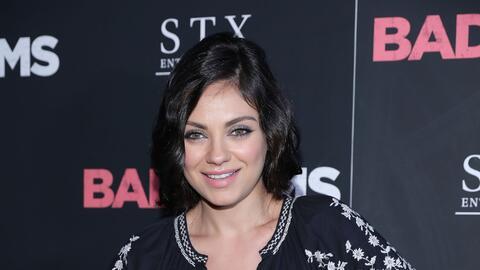 Mila en la presentación de su película 'Bad Moms' en Nueva...