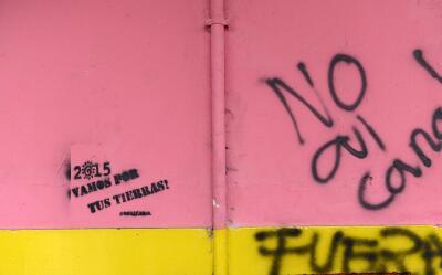 Pintas que rechazan la construcción del canal interoceánic...