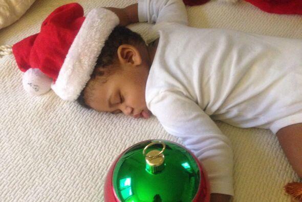 El pequeño de Maryeling García quedó agotado por tantas decoraciones.