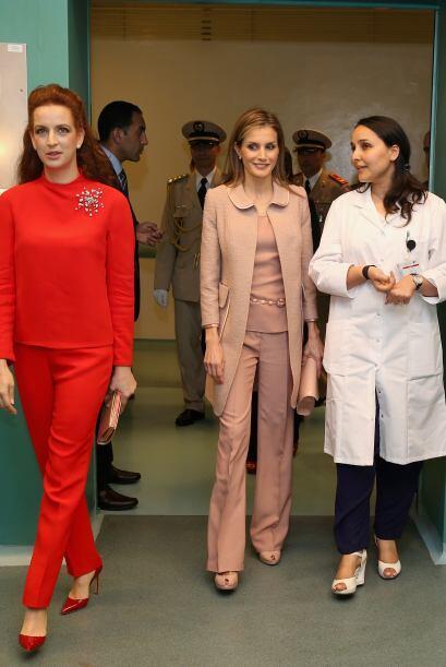 La reina Letizia y la princesa Lalla Salma visitaron un centro de preven...