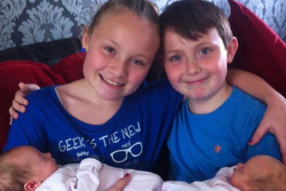 La pareja ya tenía dos hijos Charlotte  de 12 años y  Call...