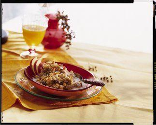 Manzanas al horno con granola  Si las manzanas asadas o al horno que hac...