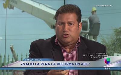 Cirilo Tirado reitera que advirtió sobre el aumento en tarifa de la AEE