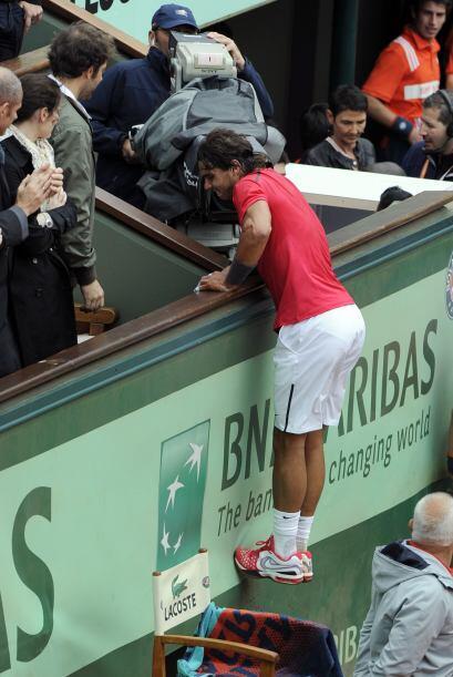 Tras ganar por séptima ocasión el torneo de Roland Garros, Rafael Nadal...