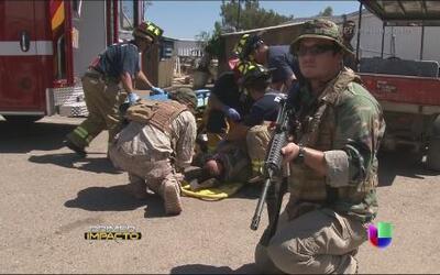 Entrenamiento severamente real para soldados y rescatistas