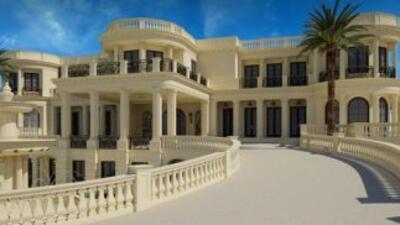 Ésta es una foto de la mansión. Imagen tomada de Twitter.