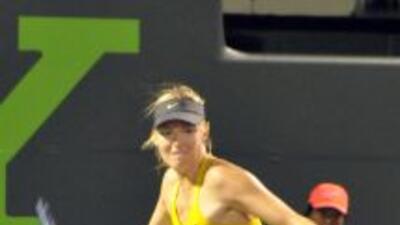 Maria Sharapova trabajó extra para vencer aLucie Safarova.
