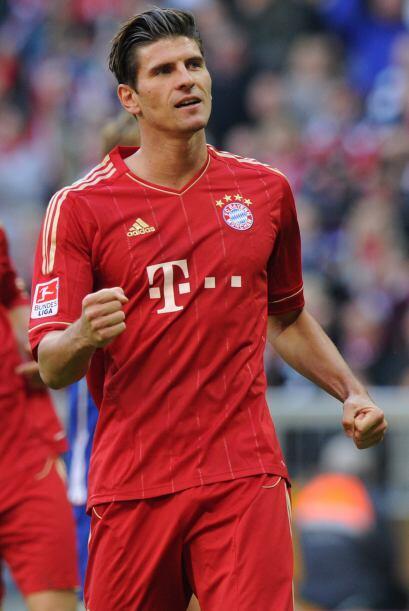 El delantero del Bayern de Münich, Mario Gómez, se consolidó como artill...