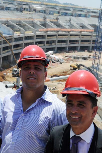 Ronaldo y Bebeto, dos campeones del mundo.