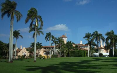 Mar-a-Lago, propiedad de Donad Trumpo en West Palm Beach, Florida.