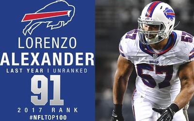 #91: Lorenzo Alexander (LB, Bills) | Top 100 jugadores 2017