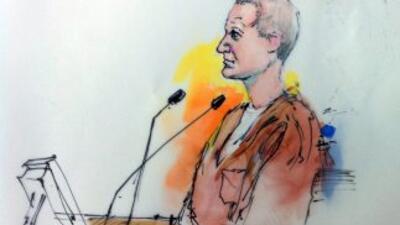 Jared Loughner, en la corte, según el dibujo de la artista presente en l...