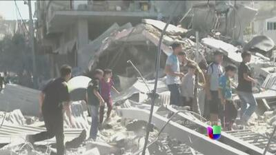 A siete días de los bombardeos a la Franja de Gaza