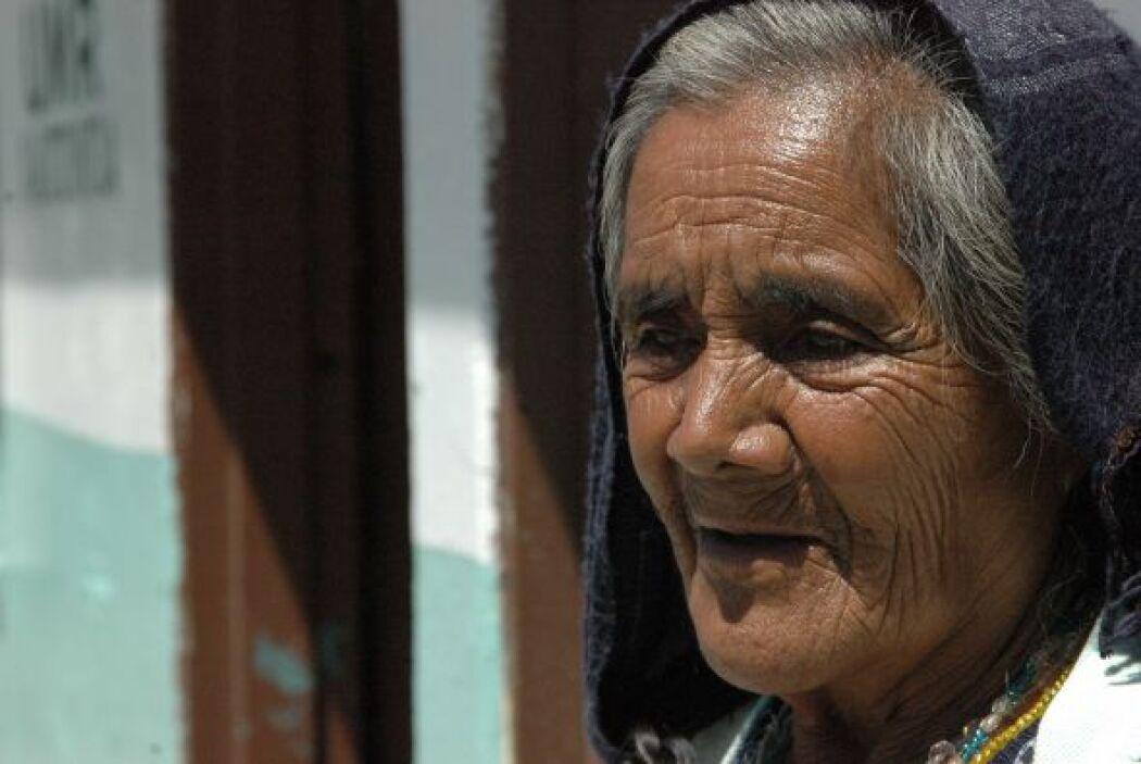 Los ancianos, como la señora Hermelinda Pérez de la Cruz, de 75 años, di...