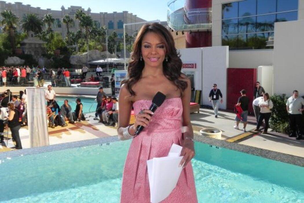 La bella Ilia Calderón durante una transmisión del programa.