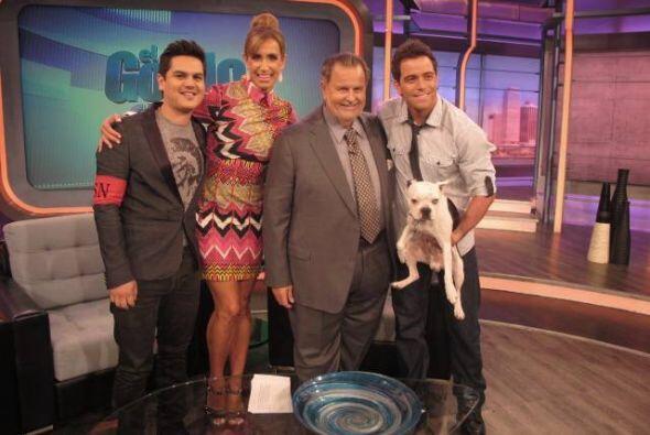 Los invitados se tomaron la foto con el Gordo y la Flaca.